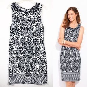 Talbots | Women's Black & White Sleeveless Dress
